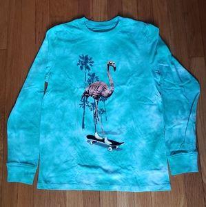 Jem big boys Flamingo Skater Tie-Dye T shirt